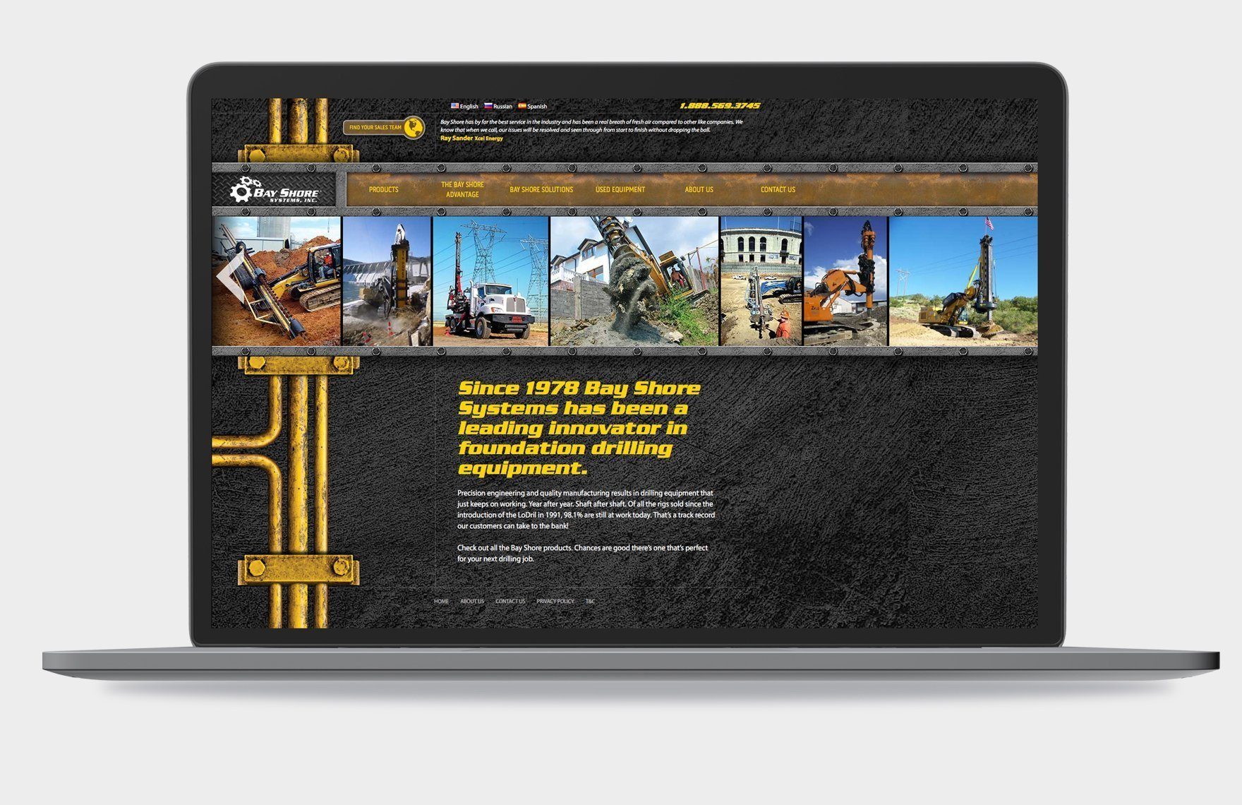 Bay Shore Systems, Inc. website prior to the redesign.