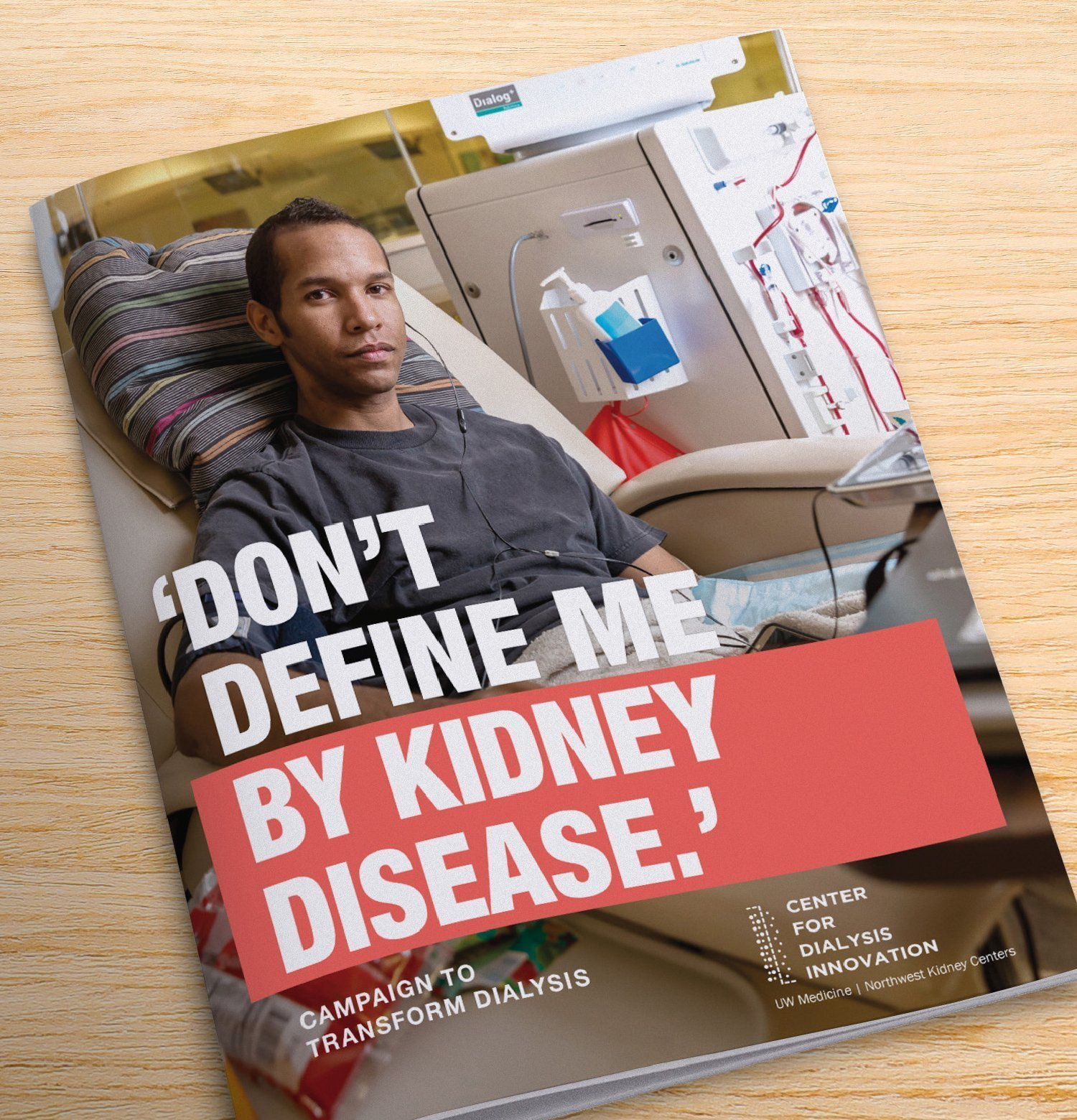 Magazine cover related to kidney disease.