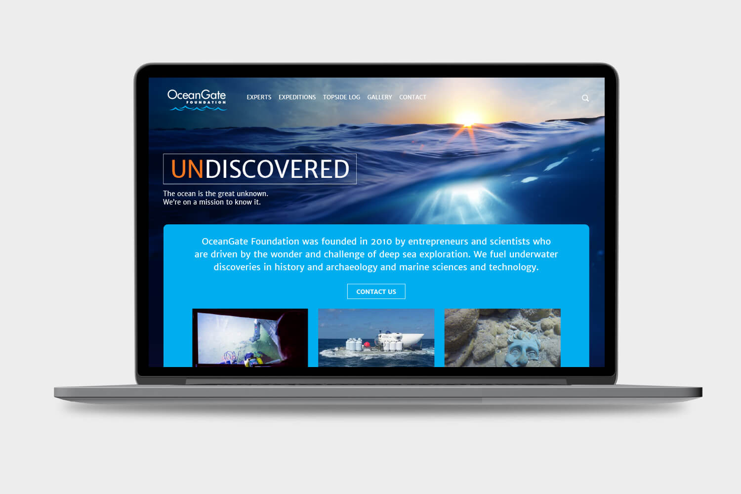 OceanGate Foundation website design